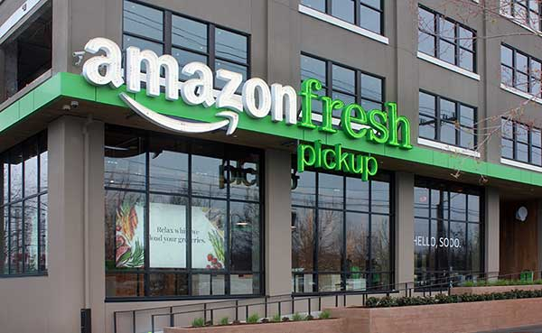 Amazon Fresh Retail Signage