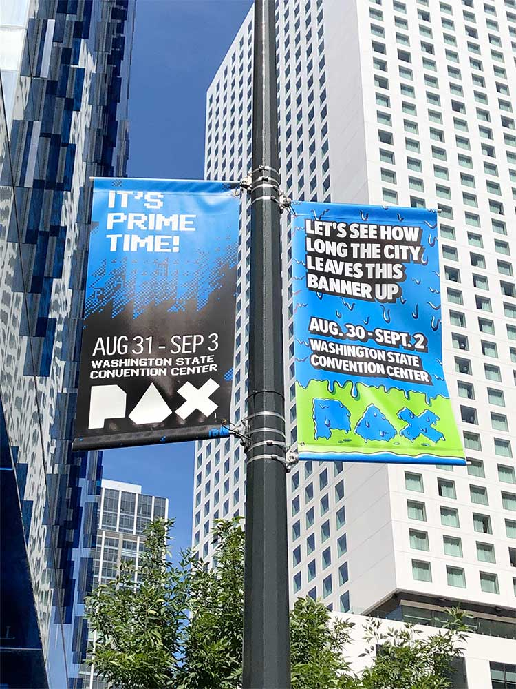 Pax Conference Pole Banners