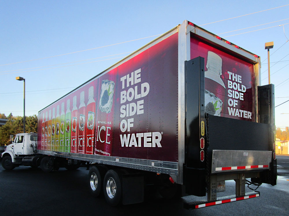 Talking Rain Sparkling Ice Fleet Truck Wraps